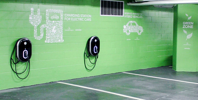Parking charging station